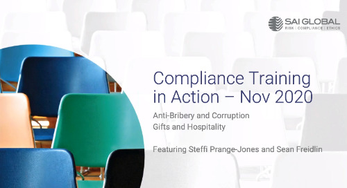 Compliance Training in Action: Gifts & Bribery in a Remote World