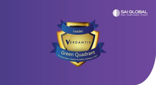 Verdantix Green Quadrant EHS Software 2021 Report