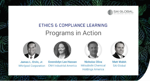 Ethics & Compliance Learning Programs in Action
