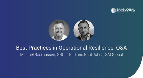 Your Operational Resilience Program and the Impact of Impending Regulations
