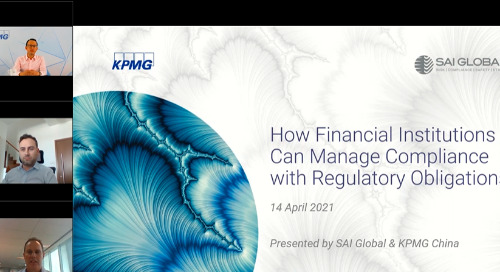 How Financial Institutions Can Manage Compliance with Regulatory Obligations