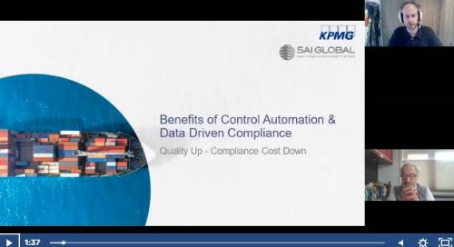 Benefits of Control Automation and Data Driven Compliance – Quality Up and Compliance Costs Down