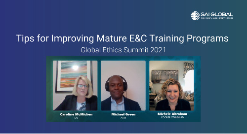 From GES 2021: Top Tips for Improving Mature Ethics and Compliance Training Programs