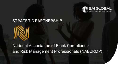 SAI GLOBAL and NABCRMP Launch Ground-breaking Systemic Racism Training Course