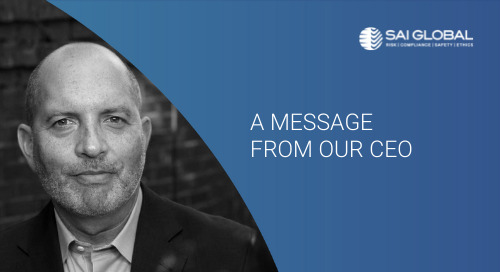 Message from Peter Granat to SAI Global's Risk & Learning Customers