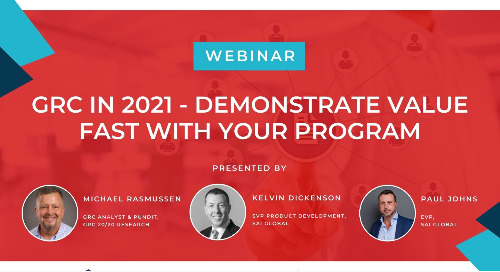 GRC in 2021: Demonstrate Value Fast with Your Program | June 30