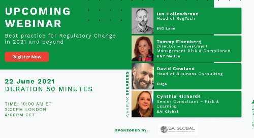 Best Practices for Regulatory Change in 2021 and Beyond | June 22