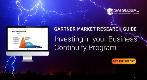 Business Continuity Program Solutions: Gartner 2021 Market Research Guide