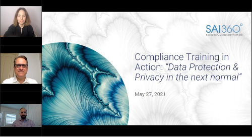 Compliance Training in Action: Data Privacy and Data Protection