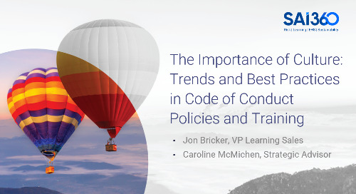 The Importance of Culture: Trends and Best Practices in Code of Conduct Policies and Training