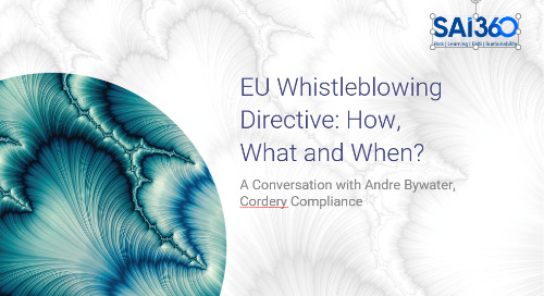 EU Whistleblowing Directive: How, What and When?