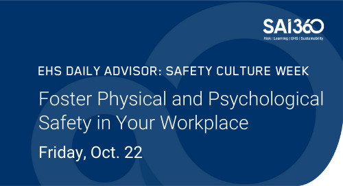 Foster Physical and Psychological Safety in Your Workplace | Safety Culture Week