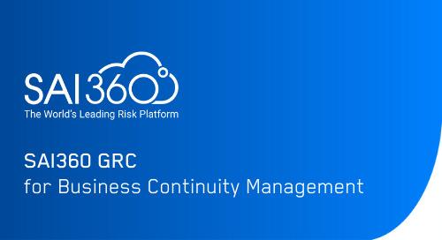 SAI360 for Business Continuity Management (BCM) | Software Demo