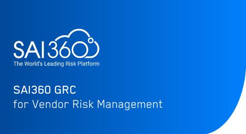 SAI360 for Vendor Risk Management (VRM) | Software Demo