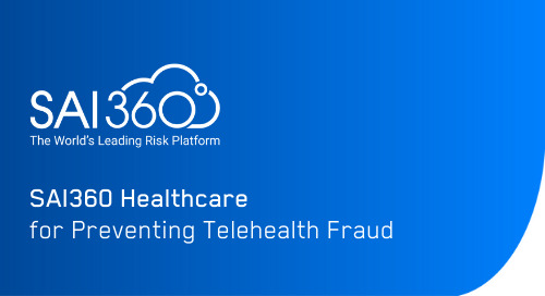 SAI360 Healthcare to Detect and Prevent Telehealth Fraud