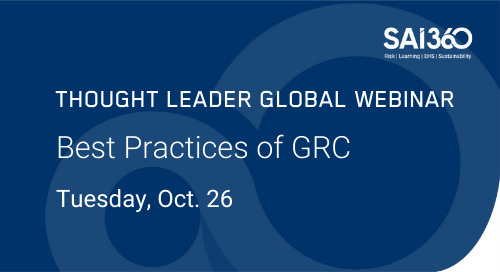 Best Practices of GRC: Internal Controls as Essential Part of Integrated Risk Management
