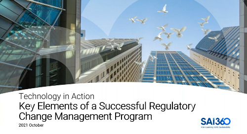 Driving Success and Efficiency through Regulatory Change Management ProgramAutomation