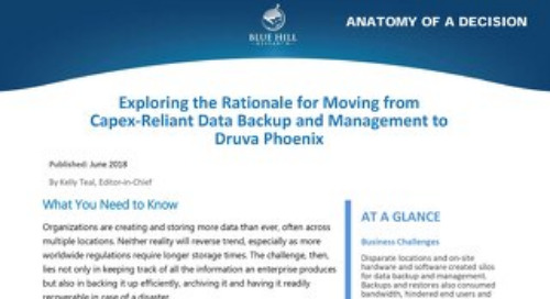 Blue Hills: Moving from Capex-Reliant Data Protection to Druva Phoenix