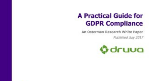 A Practical Guide for GDPR Compliance