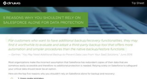 5 Reasons Why You Shouldn't Rely on Salesforce Alone for Data Protection
