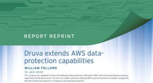 Druva Extends AWS Data-Protection Capabilities