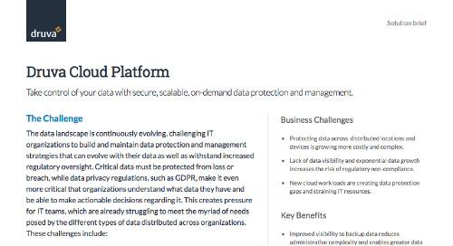 Druva Cloud Platform