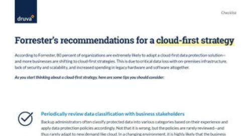 Forrester's Recommendations for a Cloud First Strategy