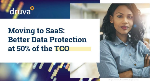 Moving to SaaS - Better Data Protection at 50% of the TCO