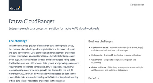 Druva CloudRanger Solution Brief