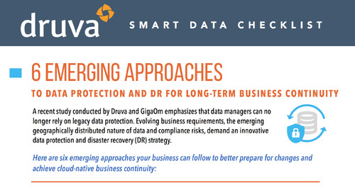 6 Emerging Approaches to Data Protection and DR for Long-term Business Continuity
