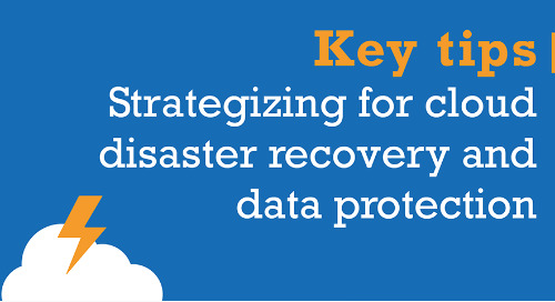 Strategizing for cloud disaster recovery and data protection