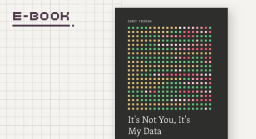 It's Not You, It's My Data