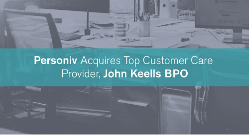BPO Leader, Personiv, Acquires Top Customer Care Provider, John Keells BPO