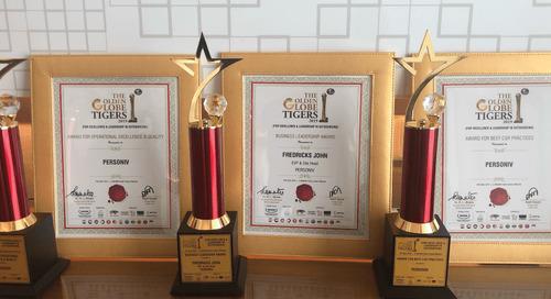 Personiv Takes Home Multiple Golden Globe Tiger Awards