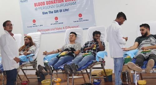 Personiv Gurugram Organizes Blood Donation Drive