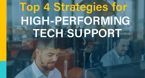 Top 4 Strategies for High-Performing Tech Support