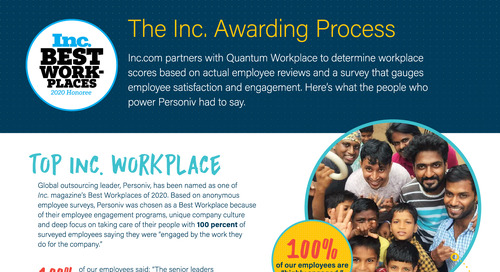 #PersonivProud in 2020: Top Workplaces Fact Sheet