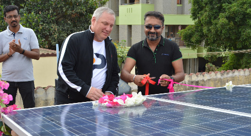 Coimbatore Team Installs Solar Panels At Two Charitable Organizations