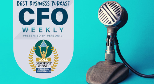 Our Podcast for Finance Leaders, CFO Weekly, Just Went Gold With a Major Award