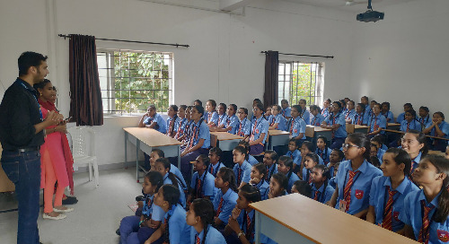 Coimbatore Team Holds Awareness Talks at Government High Schools