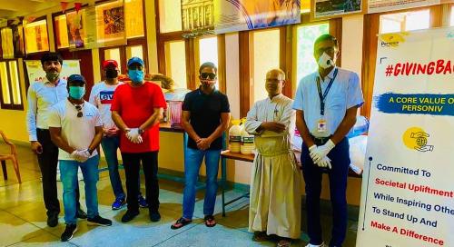 Gurugram Team Conducts Being Human Activity at Anand Ashram