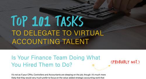 101 Tasks To Delegate To Virtual Accounting Teams