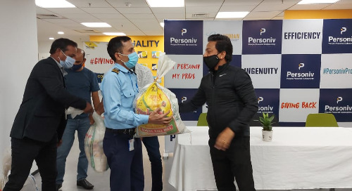 Personiv Gurugram Gives Back To Extended Family Members