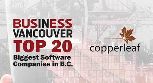 Copperleaf Ranks in the Top 20 Biggest Software Companies in B.C. for Second Consecutive Year