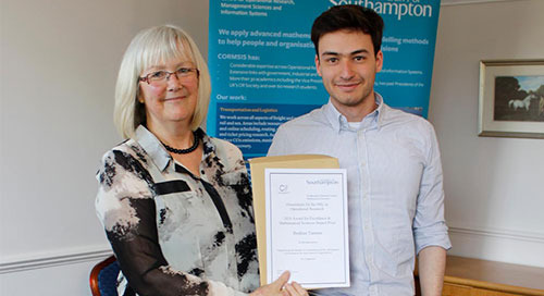 Optimisation Study Receives Research Impact Prize