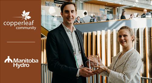 "Manitoba Hydro Wins the 2019 Copperleaf Community ""Innovator of the Year"" Award!"