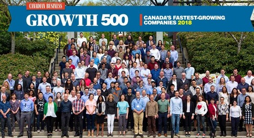 Copperleaf Makes the 2018 Growth 500 List of Canada's Fastest-Growing Companies for Fourth Consecutive Year