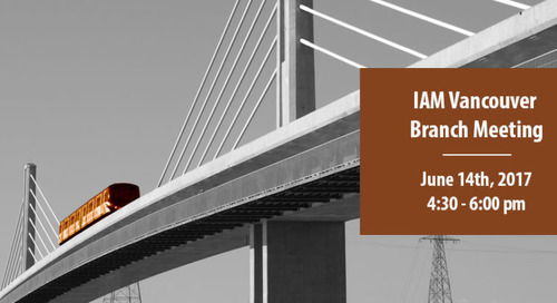 Copperleaf to Host the IAM's Vancouver Branch Meeting on June 14: Register Now