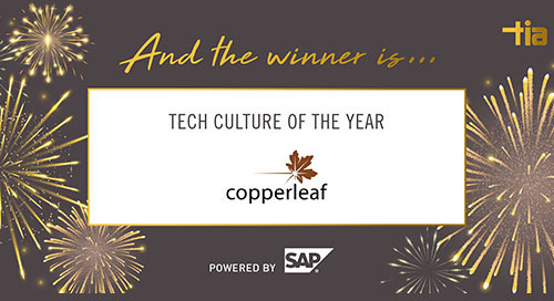 Copperleaf Wins the 2020 Tech Culture of the Year Award
