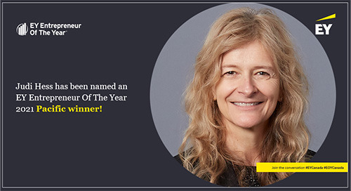 Copperleaf CEO Judi Hess Named an EY Entrepreneur Of The Year 2021 Pacific Winner